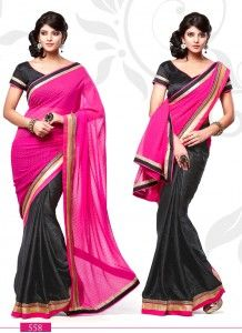 Marvelous Black & Pink Silk Jacquard Casual Wear Saree KE12659 http://www.wholesalesalwar.com/sarees?catalog=vogue-1033