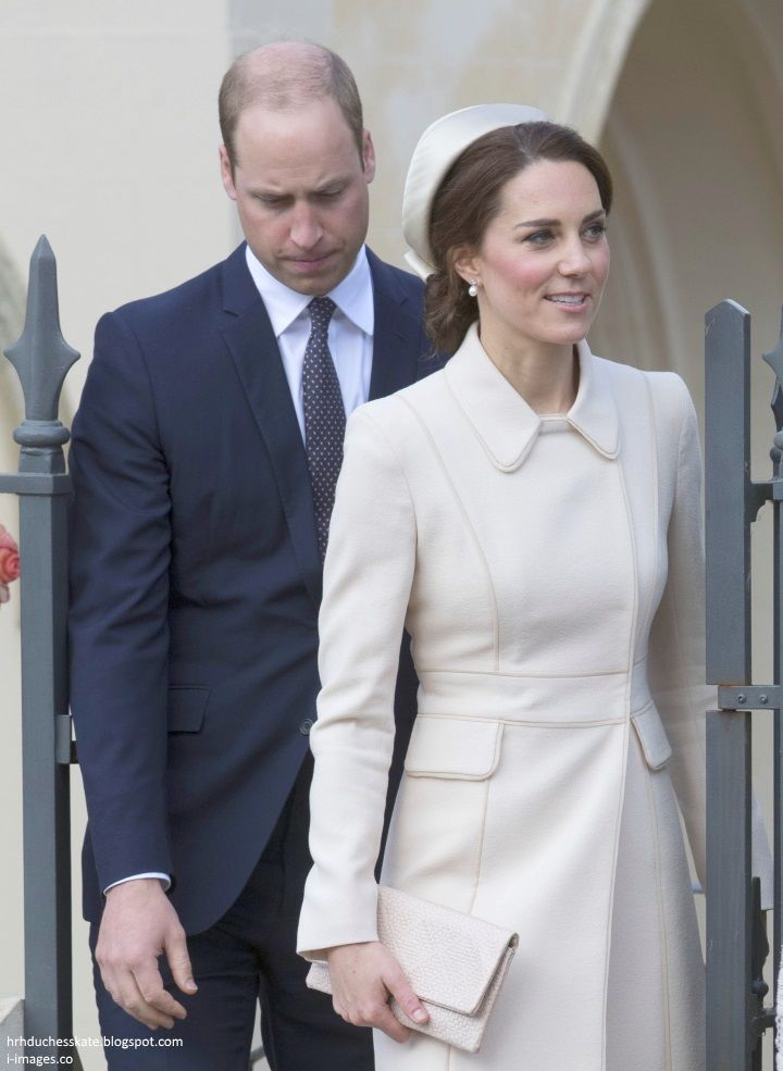 The Duke And Duchess Of Cambridge Joined The Queen And