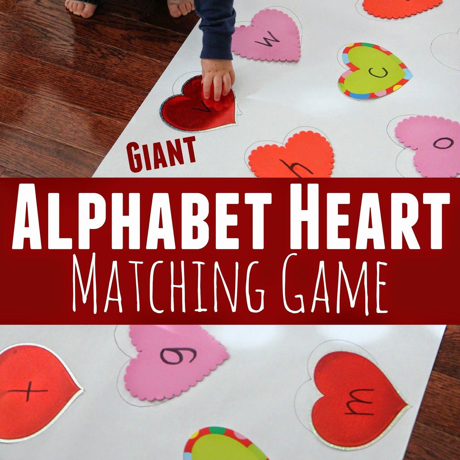 Giant Alphabet Heart Matching Game