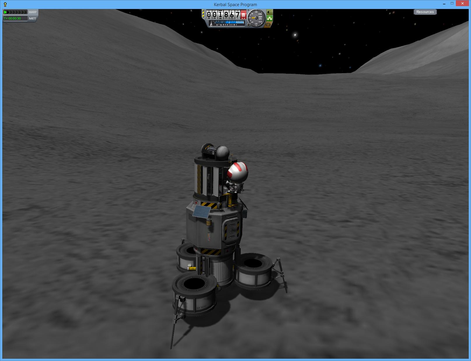 Lightweight Mun lander  | Kerbal Space Program | Kerbal