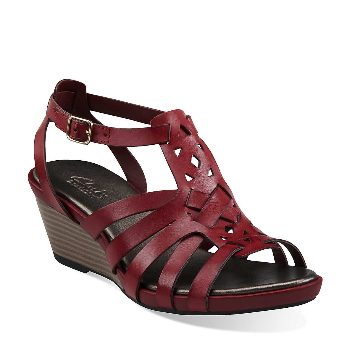 626b22ffe16 Lucia Coral in Red Leather - Womens Sandals from Clarks
