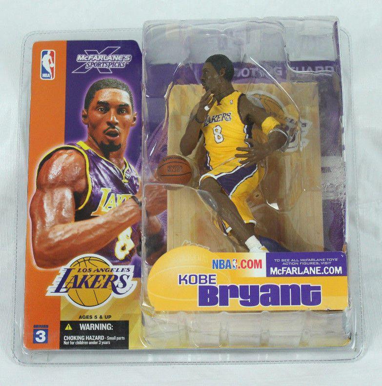 2003 McFarlane Figure ~ KOBE BRYANT Los Angeles Yellow Jersey ...
