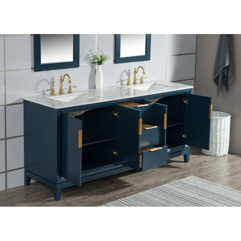 "Tappahannock 72"" Double Bathroom Vanity Set in 2020 