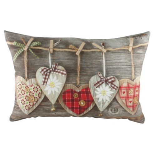 Buy Wooden Heart Photographic Cushion from our Cushions range - Tesco.com