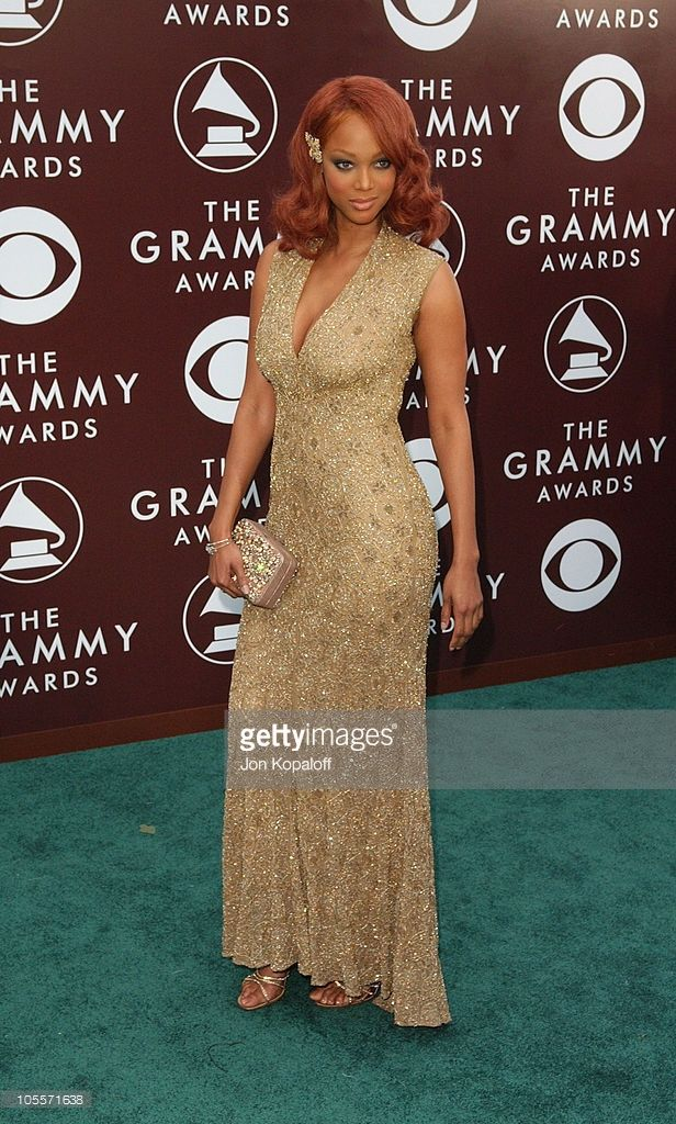 Tyra Banks during The 47th Annual GRAMMY Awards - Arrivals at Staples Center in Los Angeles, California, United States.