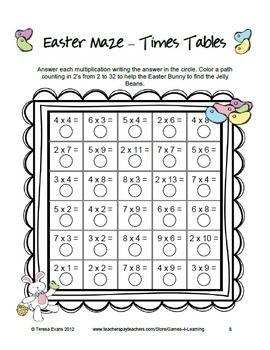Easter Math Mazes Easter Math Easter Math Activities Math Maze