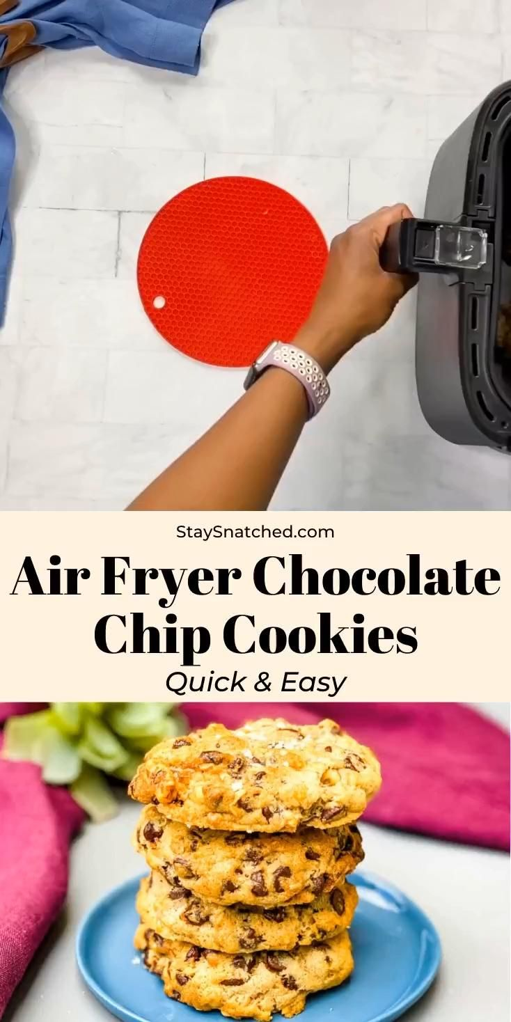 Easy Air Fryer Chocolate Chip Cookies -   18 air fryer recipes easy dessert ideas