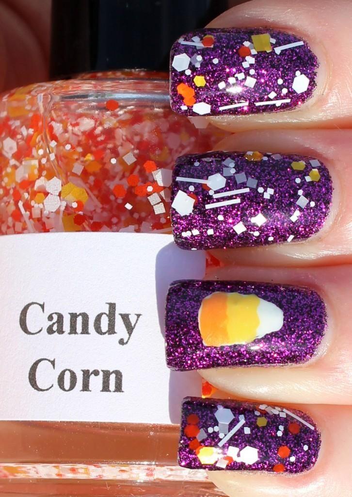 DIY halloween nails: DIY Halloween nail art : Candy Corn |