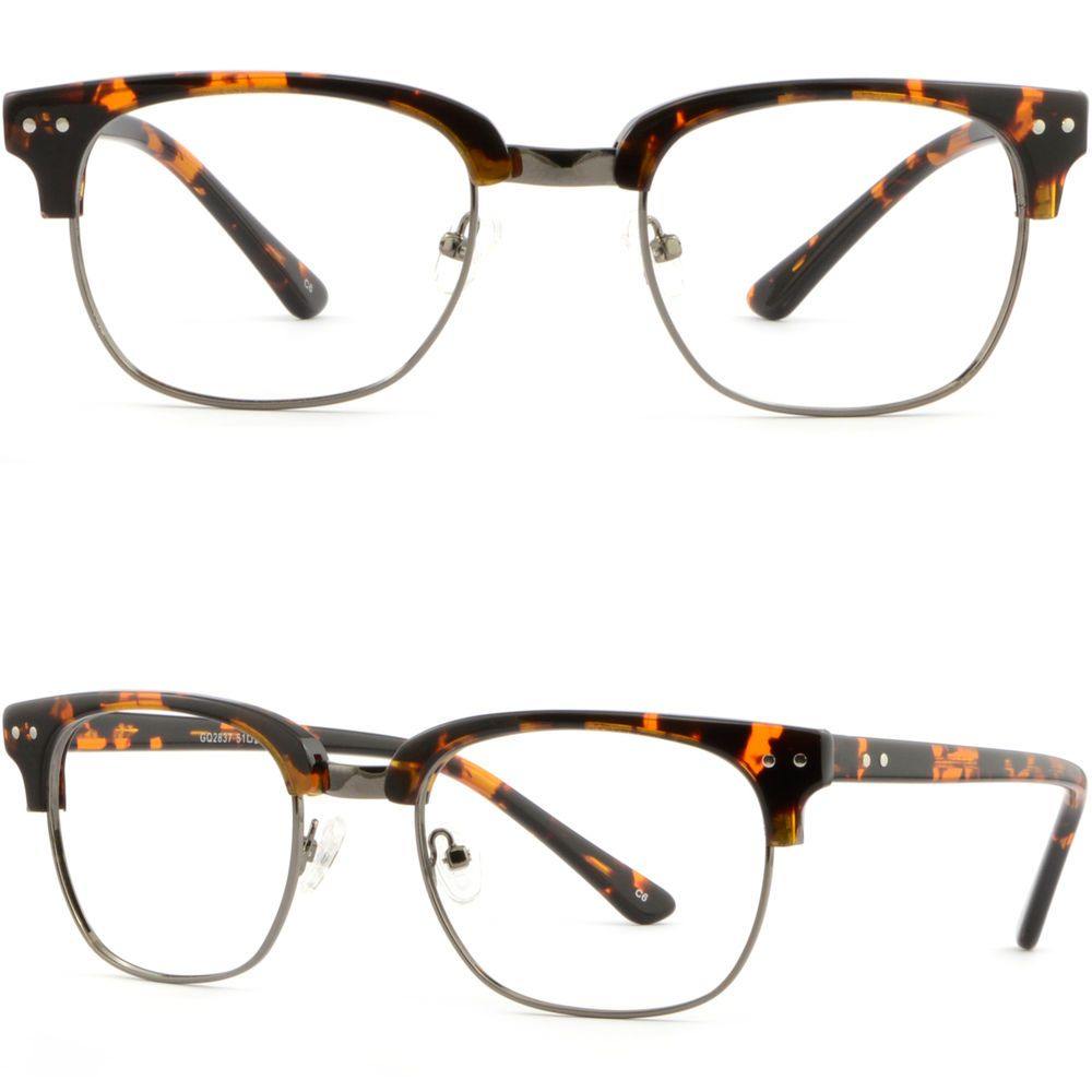 59469e7f6f Browline Plastic Men Women Frame Prescription Photochromic Glasses  Tortoiseshell  Unbranded
