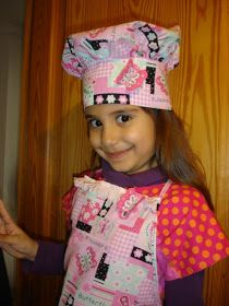 To Sew With Love: Pretty Apron and Chef Hat Tutorial