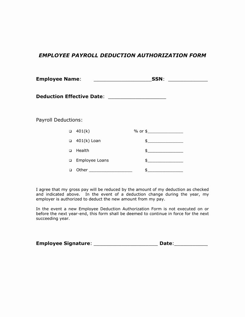 Payroll Deduction Form Template Fresh Payroll Change Form Forms Sample Forms Payroll Deduction Payroll Template Payroll deduction authorization form template