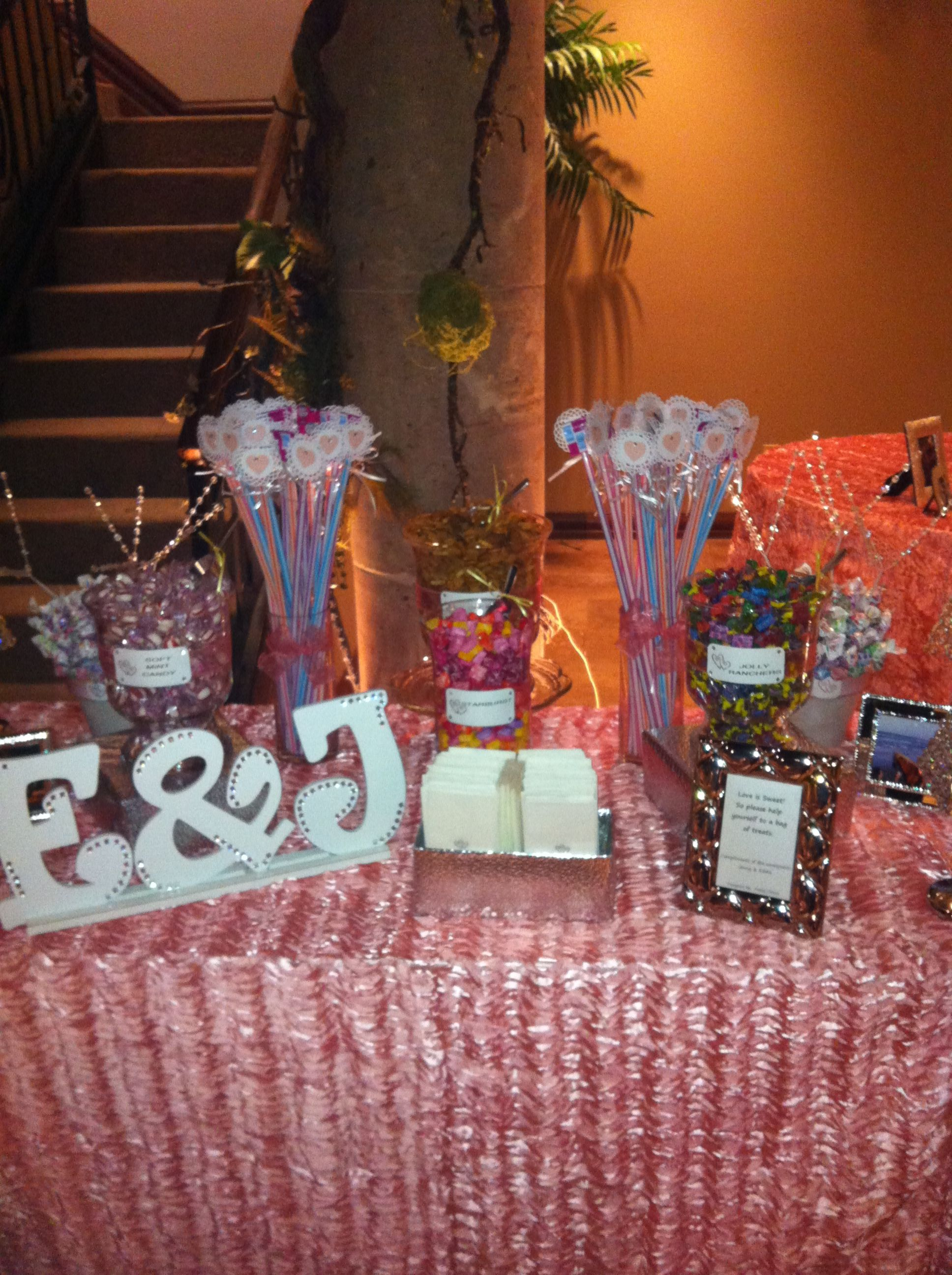 """""""Wedding"""" candy bar"""