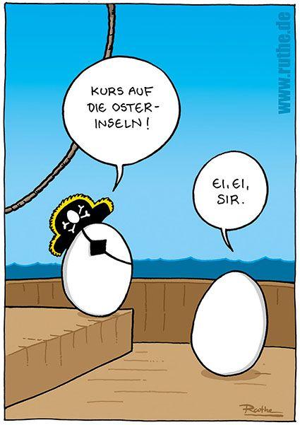 ruthe.de • Willkommen #ruthe #ralphruthe #osterinsel #ei #cartoon #hwg