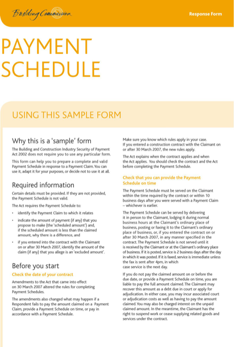 Payment Schedule Sample Form  TemplatesForms