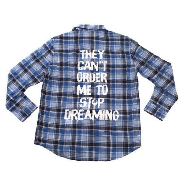 Dreaming Flannel ($50) ❤ liked on Polyvore featuring tops, disney, cinderella and flannel