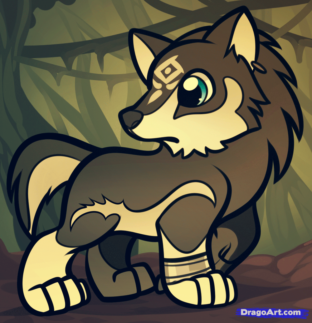 How To Draw Chibi Wolf Link Wolf Link From Legend Of Zelda