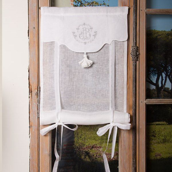 store de charme brod 60x120 cm le grenier d 39 apolline rideaux pinterest grenier broder et. Black Bedroom Furniture Sets. Home Design Ideas
