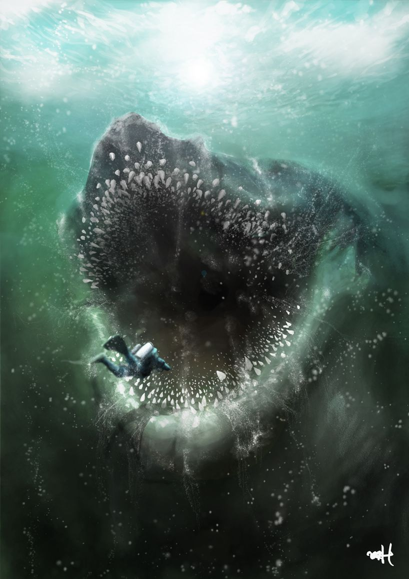 Image result for deep sea horror art