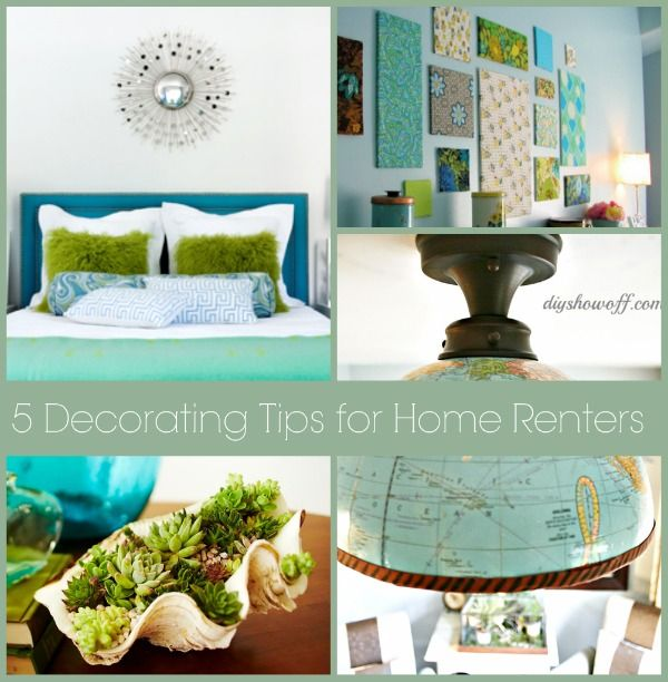 5 Easy Non-permanent Decorating Tips for Renters Easy, Apartments