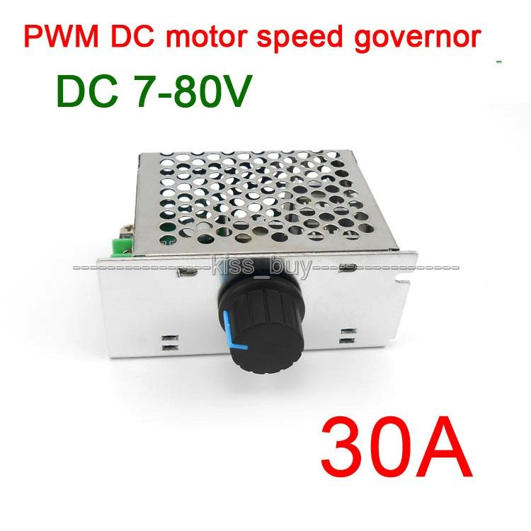 7-80V 30A DC MOTOR SPEED governor CONTROL PWM HHO RC CONTROLLER ...