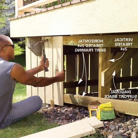 Porch Skirt Ideas Deck Skirting Decks And Porches Building A Deck