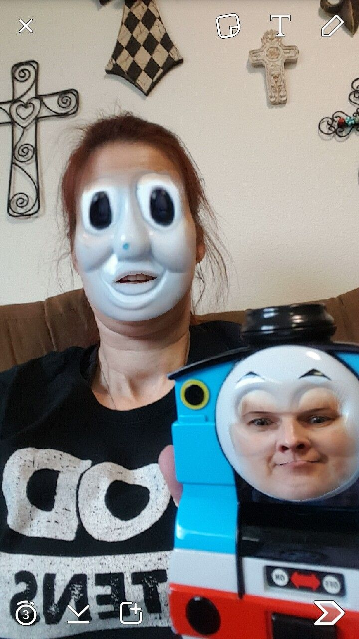 Snap Chat Face Swap Thomas The Train Snapchat Funny Thomas The Train Funny Pictures