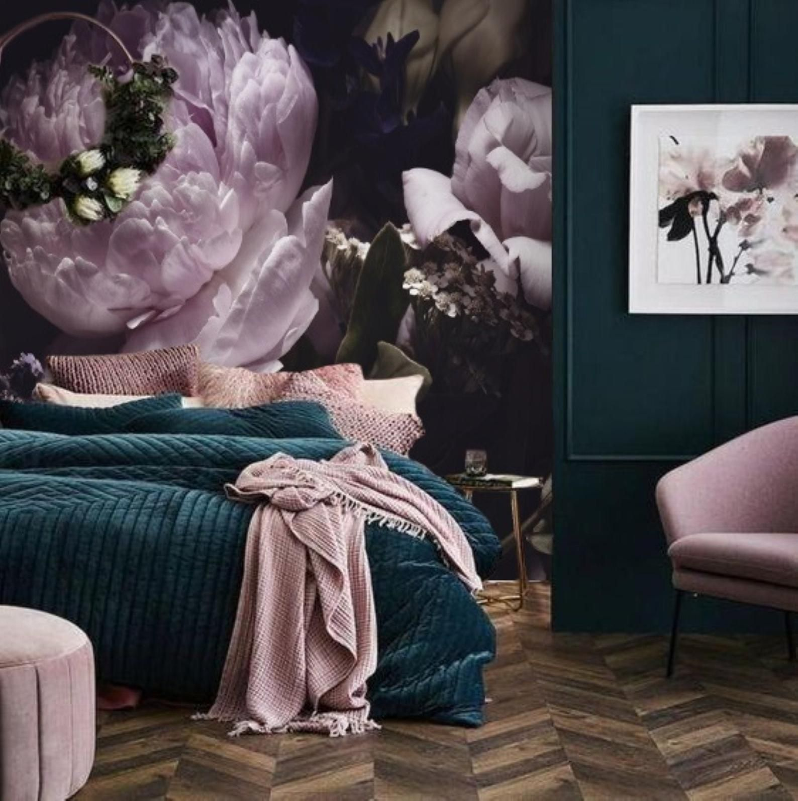 Helle Lila Pfingstrosen Wallpaper Wandbild Dark Floral Removable Wallpaper Peel Und Stick Grosse Black Floral Wallpaper Large Flower Wallpaper Peony Wallpaper