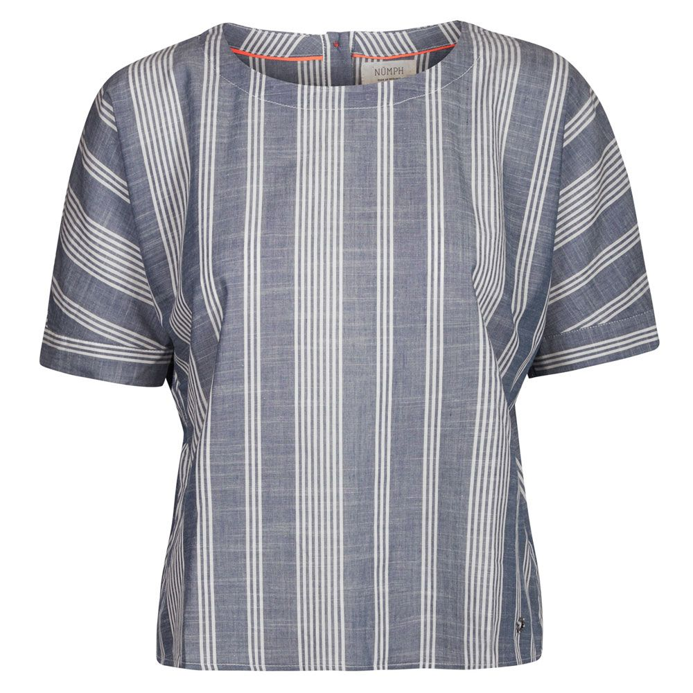 Nümph Skjorte, Hitmoi, Blå/hvid