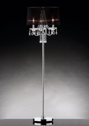 160 Concordia Crystal Floor Lamp By Warehouse Of Tiffany Http Www Amazon Com Dp B009oaxmfc Ref C Crystal Floor Lamp Floor Lamp Black Shade Black Floor Lamp