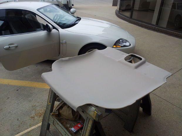 Headliner Repair using Foam Backing Headliner Material ...