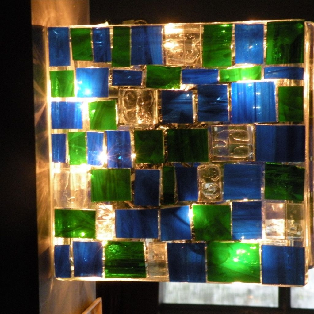 Glass block lamp. super easy and fun to make!