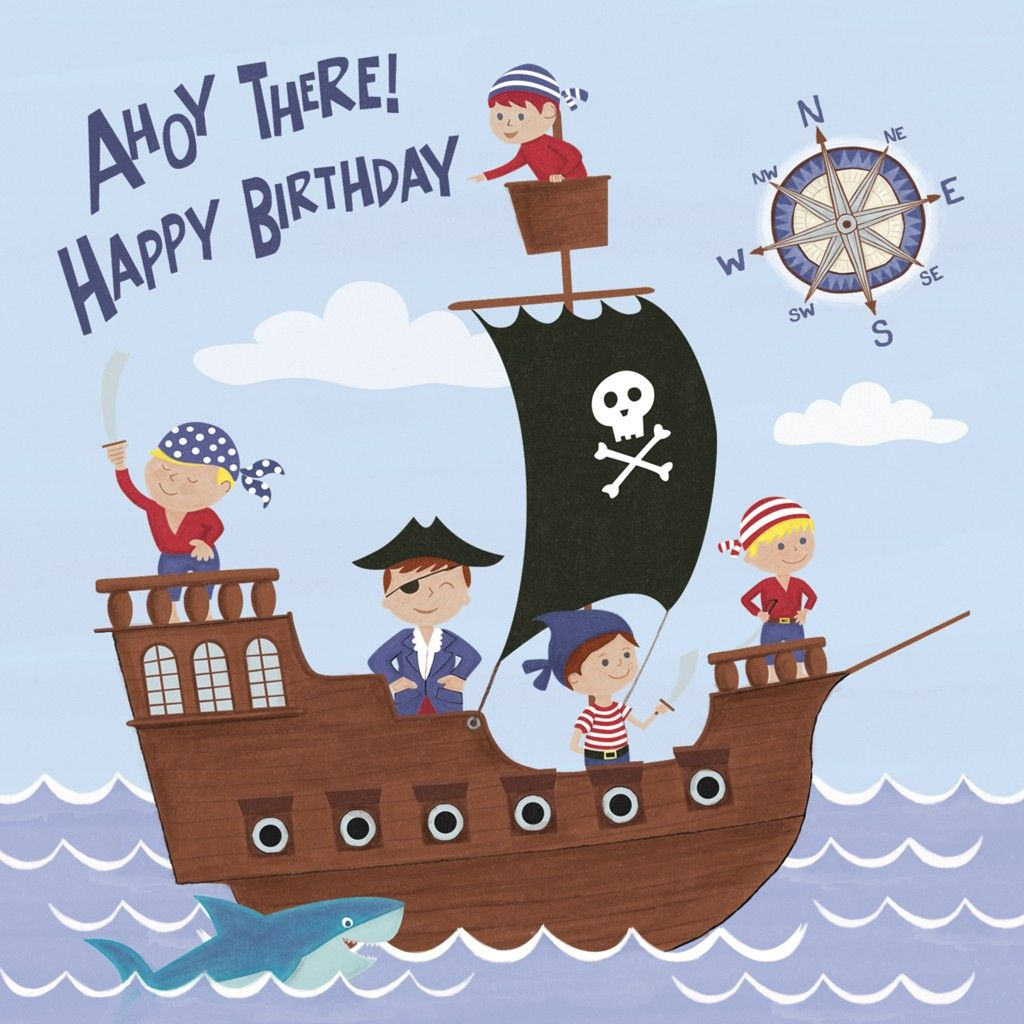 Pirate Fun Birthday Card Cards Pirate Birthday Kids