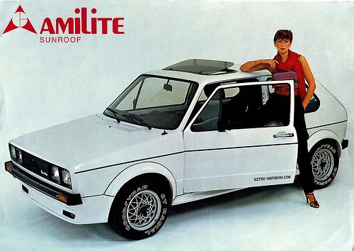 Retro 80s Fashion Style Amilite Sunroof Rinspeed Vw Golf Mk1