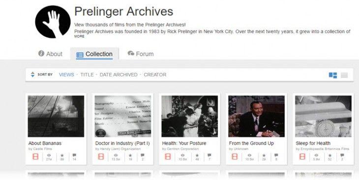 Prelinger Archives. Más  de 6000 películas  de dominio  público  para descargar