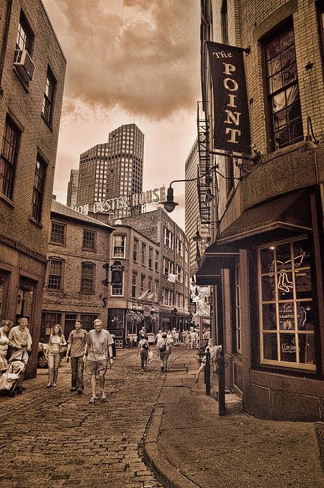 Hanover Street In Boston Is A Very Popular Tourist Attraction With