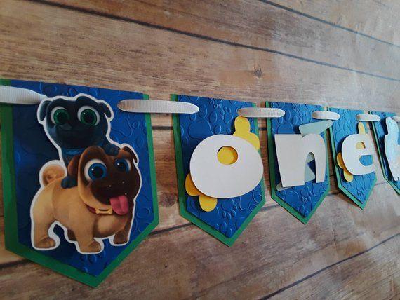 Puppy Dog Pals Birthday Banner Puppy Pals Puppy Party I Am One
