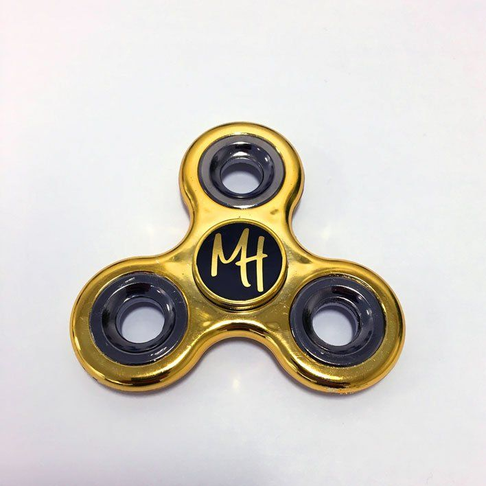 Morgz Merch — MH Morgz Hudson Metallic Fid Spinner Gold
