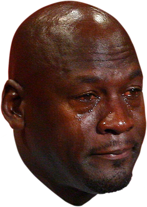 Jordan Crying Face PNG transparent background Memes