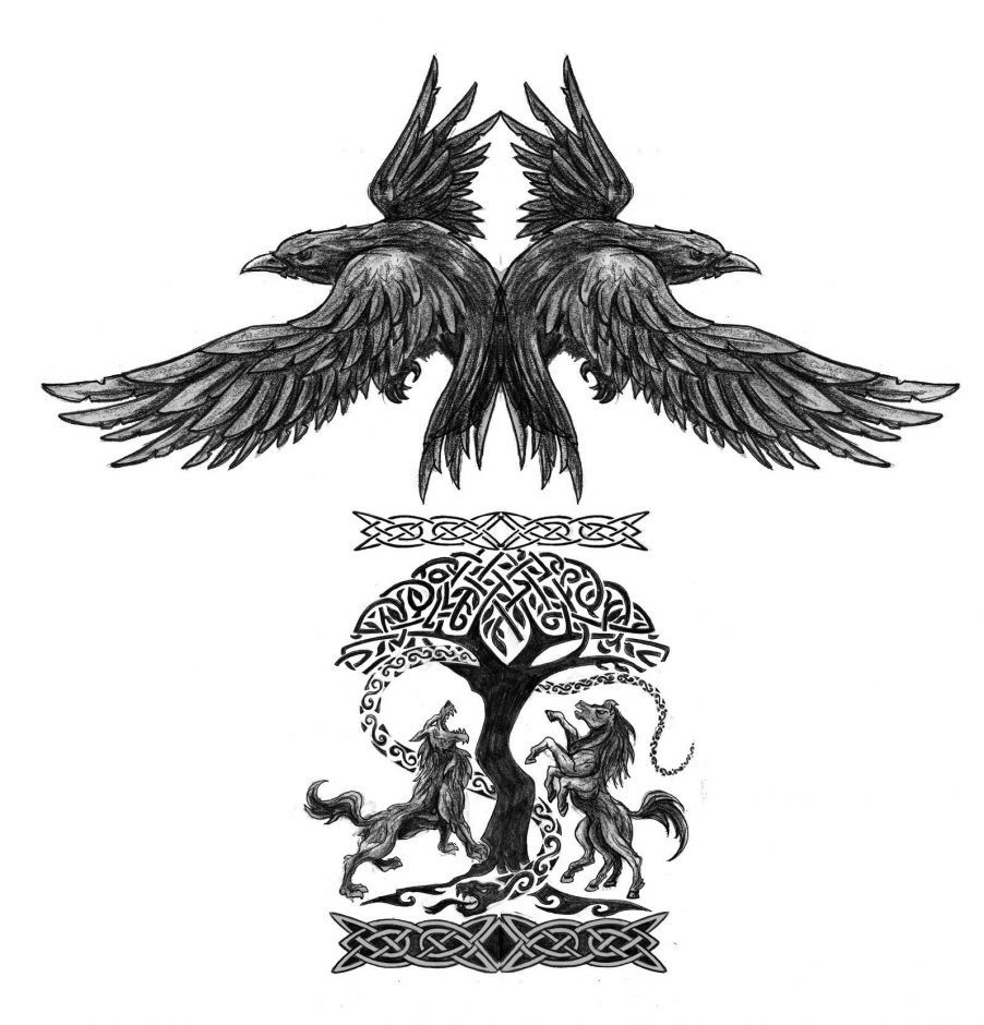 E414af5059a26105c026b8c2b9344794 Jpg 902 940 Mythology Tattoos Yggdrasil Tattoo Norse Tattoo