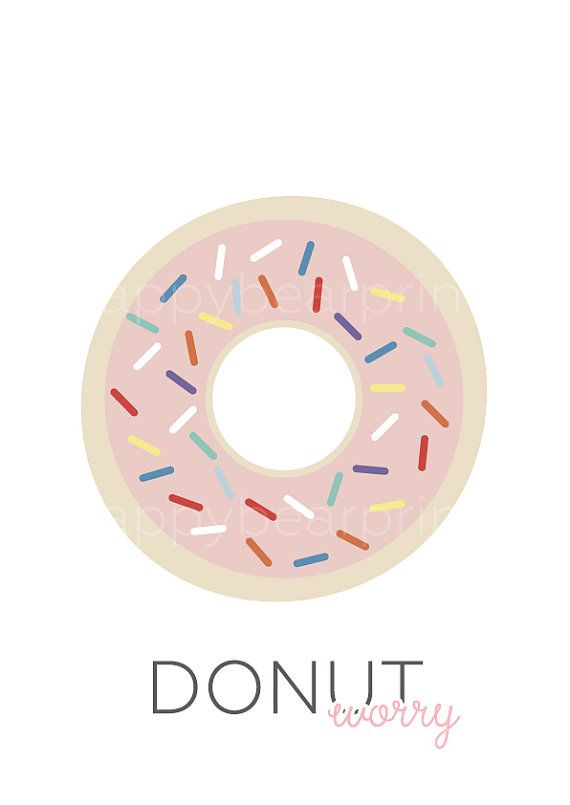 Pink Donut Print Wall Print Wall Decor Rosy par happybearprints