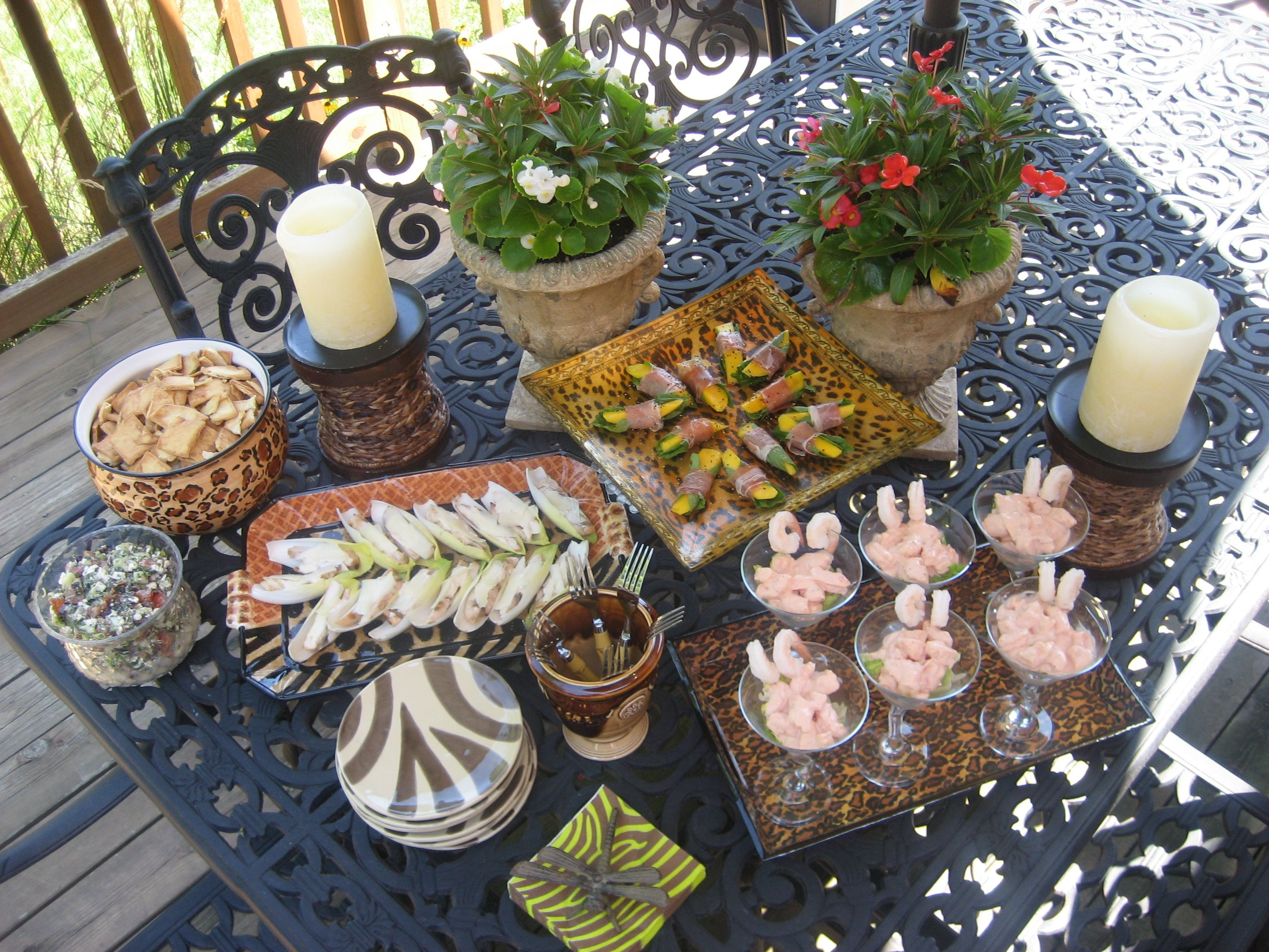 porch party appetizer table entertaining sp summer pinterest