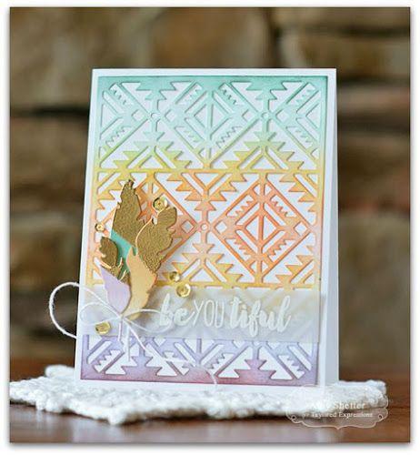 blog design team beyoutiful  creative cards feather