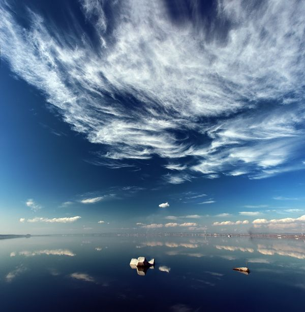 Awesome #sky view above the water. #photo