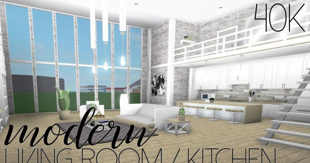 Roblox Welcome To Bloxburg Modern Living Room Kitchen Bloxburg Room Tumblr Decorate Your H Living Room Design Blue House Interior Interior Design Living Room