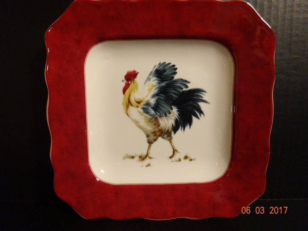 Country Decorative Rooster Plate - Barn Yard by Noble Excellence & Country Decorative Rooster Plate - Barn Yard by Noble Excellence ...