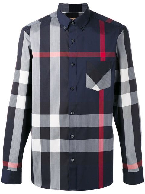 BURBERRY Longsleeve Checked Shirt.  burberry  cloth  shirt Burberry Shirt, Burberry  Men b5e1d5b6f78c