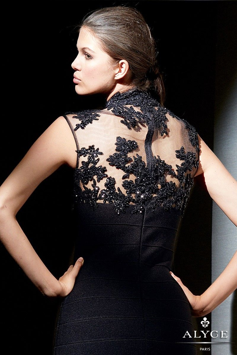 Alyce paris black label style short black formal dress