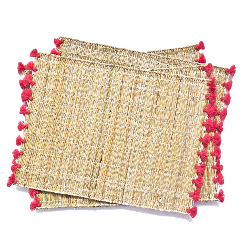 Our Maui Placemats Are Handmade From Natural Bamboo And Finished