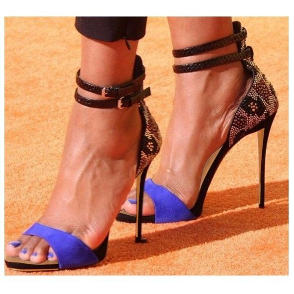 1d02fd62a6d Women s Style Sandal Shoes Blue Open Toe Suede Evening Shoes Ankle Strap  Sandals Rhinestone Stiletto Heels For Date Chic Fashion Prom Shoes  Valentines Day ...