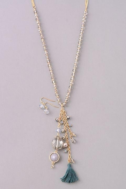 Lost Treasure Necklace: Blue   privityboutique